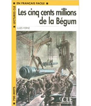 Книга для читання Lectures facile Niveau 1 Les Cinq Cents Millions De La Bégum Livre