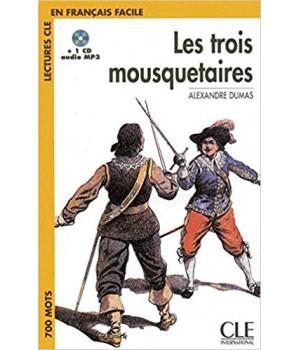 Книга для читання Lectures facile Niveau 1 Les Trois Mousquetaires Livre + audio