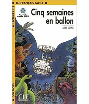 Книга для читання Lectures facile Niveau 1 Cing Semaines en ballon Livre + audio