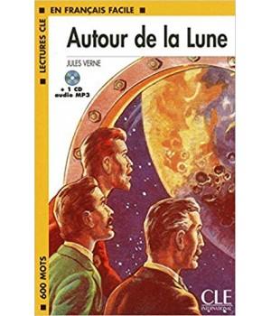Книга для читання Lectures facile Niveau 1 Autour de la Lune Livre + audio
