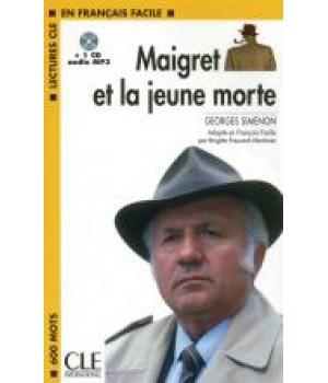 Книга для читання Lectures facile Niveau 1 Maigret et la jeune morte Livre + audio