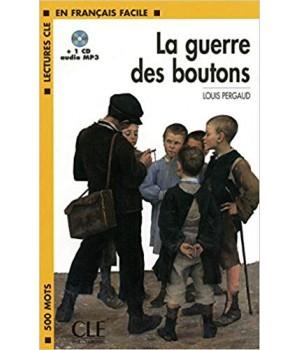 Книга для читання Lectures facile Niveau 1 La Guerre des boutons Livre + audio