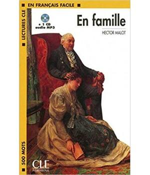 Книга для читання Lectures facile Niveau 1 En Famille Livre + audio