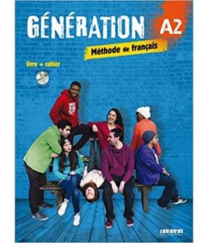 Підручник Generation A2 Livre + Cahier + CD audio + DVD