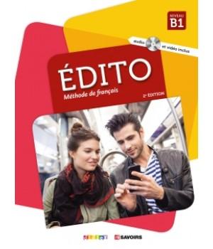 Підручник Edito B1 (Edition 2018) Livre de l'élève + DVD + CD audio