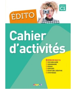 Робочий зошит Edito C1 (Edition 2016) Cahier d'exercices + CD mp3
