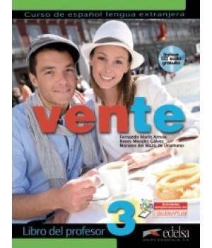 Книга для вчителя Vente 3 (B2) Libro del profesor + CD audio