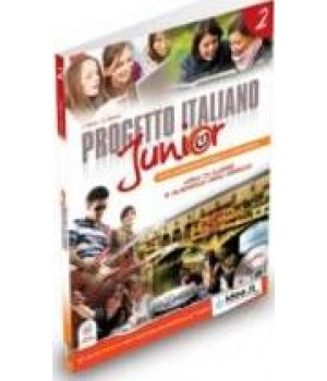 Підручник Progetto Italiano Junior 2 Libro & Quaderno + CD audio