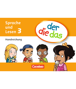 Книга для вчителя der die das - 3 Handreichungen-Kartei mit Beileger und Stülpschachtel