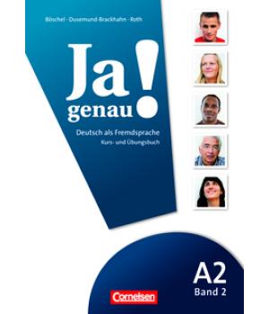 Учебник Ja genau! A2/2 Kurs- und Übungsbuch mit Lösungen und Audio-CD