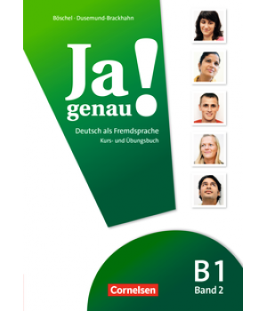 Учебник Ja genau! B1/2 Kurs- und Übungsbuch mit Lösungen und Audio-CD