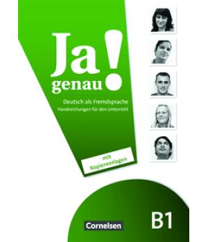 Книга для вчителя Ja genau! B1 Handreichungen für den Unterricht