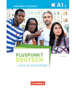 Робочий зошит Pluspunkt Deutsch NEU A1/2 Arbeitsbuch mit Audio-CDs