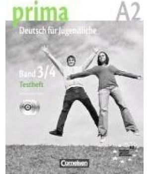 Тести Prima - Deutsch für Jugendliche Band 3, 4 Testheft mit Audio CD's