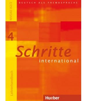Книга для вчителя Schritte international 4 Lehrerhandbuch