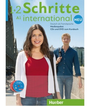Диски Schritte international Neu 1+2 Medienpaket 5 Audio-CDs und 1 DVD zum Kursbuch