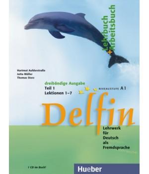 Учебник Delfin Teil 1 Lektionen 1-7 Lehr- & Arbeitsbuch mit Audio-CD