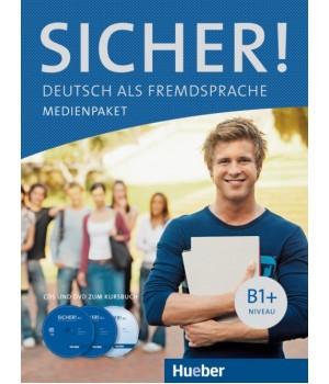 Диски Sicher! B1+ Medienpaket (2 AudioCDs und DVD zum Kursbuch)