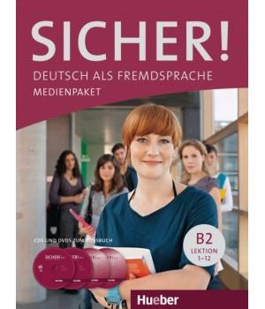 Диски Sicher! B2 Medienpaket (2 AudioCDs und 2 DVDs zum Kursbuch)