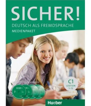 Диски Sicher! C1 Medienpaket (2 AudioCDs und 2 DVDs zum Kursbuch)