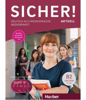 Диски Sicher! Aktuelle B2 Medienpaket (2 AudioCDs und 2 DVDs zum Kursbuch)