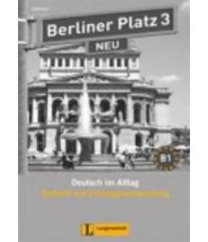 Тести Berliner Platz 3 NEU Testheft mit Prüfungsvorbereitung 3 + Audio-CD