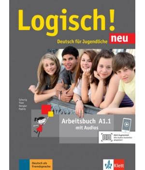 Робочий зошит Logisch! neu A1.1 Arbeitsbuch mit Audios zum Download