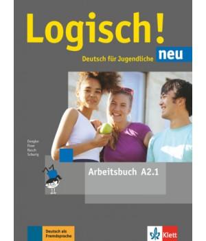 Робочий зошит Logisch! neu A2.1 Arbeitsbuch mit Audios zum Download