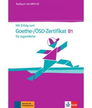 Тести Mit Erfolg zum Goethe-/ÖSD-Zertifikat B1 für Jugendliche, Testbuch + MP3-CD