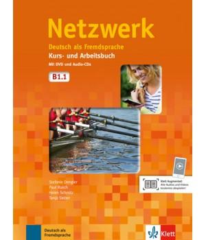 Підручник Netzwerk B1 Kurs- und Arbeitsbuch, Teil 1 + Audio-CDs + DVD