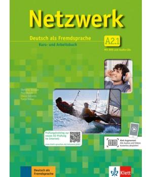 Підручник Netzwerk A2 Kurs- und Arbeitsbuch, Teil 1 + Audio-CDs + DVD