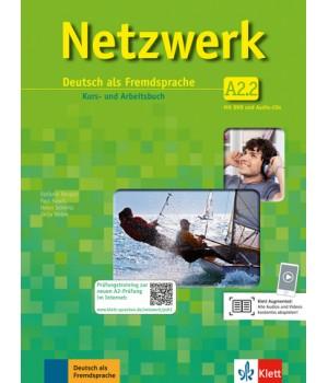 Підручник Netzwerk A2 Kurs- und Arbeitsbuch, Teil 2 + Audio-CDs + DVD