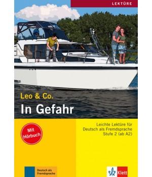Книга для читання In Gefahr (Stufe 2) Buch + CD