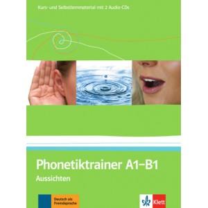 Підручник Phonetiktrainer A1-B1 Aussichten Kurs- und Selbstlernmaterial mit 2 Audio-CDs