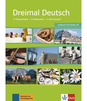 Dreimal Deutsch Lesebuch + Audio-CD