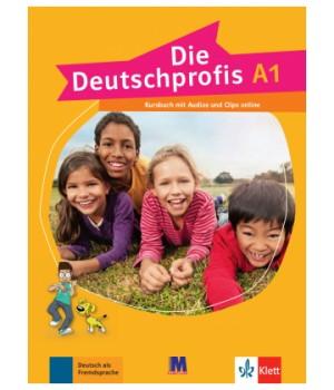Підручник Die Deutschprofis A1 Kursbuch mit Audios und Clips online
