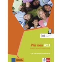 Підручник Wir Neu A2.1 Lehrbuch und Arbeitsbuch Teil 1