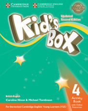 Робочий зошит Kid's Box Updated Second edition 4 Activity Book with Online Resources