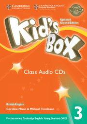 Диски Kid's Box Updated Second edition 3 Class Audio CDs (3)