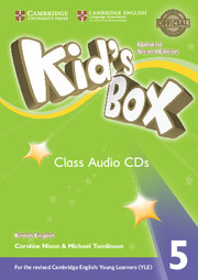 Диски Kid's Box Updated Second edition 5 Class Audio CDs (3)