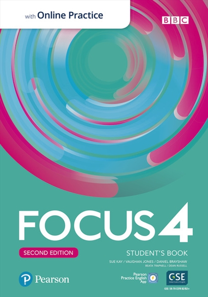 Підручник з англійської мови Focus Second Edition 4 Student's Book with Online Practice